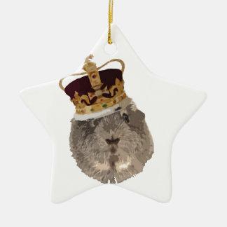 Guineapig in a crown ceramic ornament