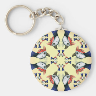 Guineas Everywhere! Basic Round Button Key Ring