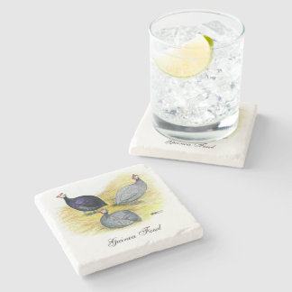 Guineas Purple, Coral Blue and Lavender Stone Coaster
