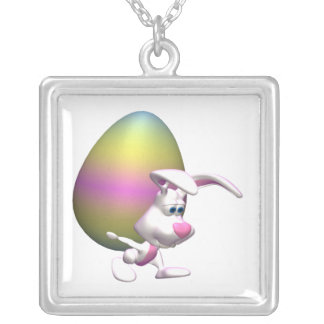 Guiness Easter Egg Square Pendant Necklace