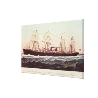 Guion Line Steamship Arizona Stretched Canvas Print