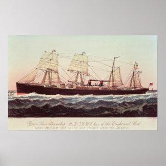 Guion Line Steamship Arizona Poster