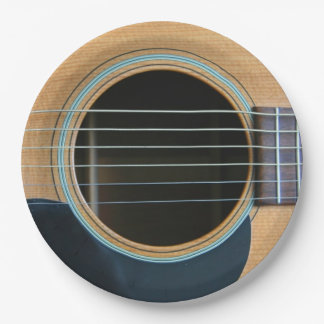 GUITAR 9 INCH PAPER PLATE