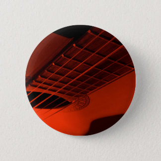 Guitar abstract. 6 cm round badge