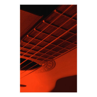 Guitar abstract. customized stationery