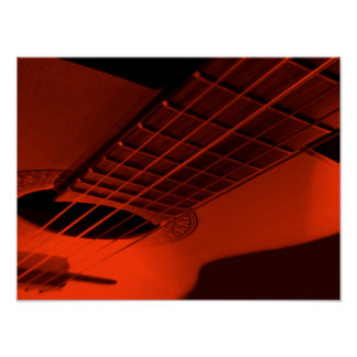 Guitar abstract. poster