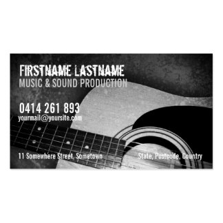 Guitar Acoustic Grunge Music Business card