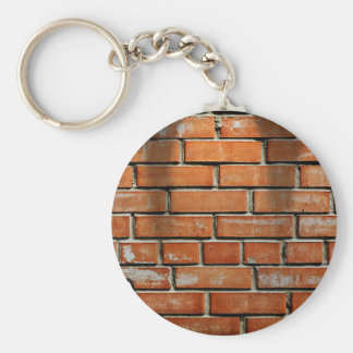 Guitar Against Brick Wall Basic Round Button Key Ring