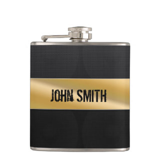 Guitar amp with custom name hip flask