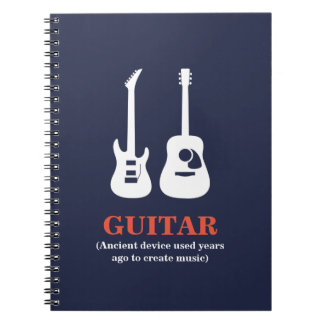 Guitar (Ancient device used......... Spiral Notebook