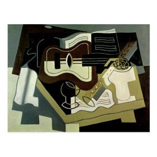 Guitar and Clarinet, 1920 Postcard