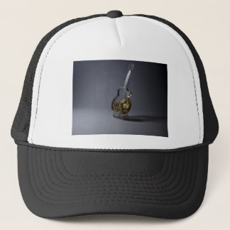 guitar and gold coins trucker hat