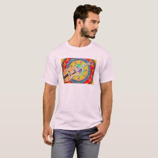 Guitar and Latin Mandala Watercolor T-Shirt