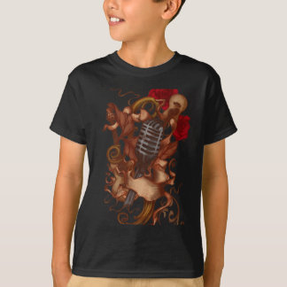guitar art roses T-Shirt