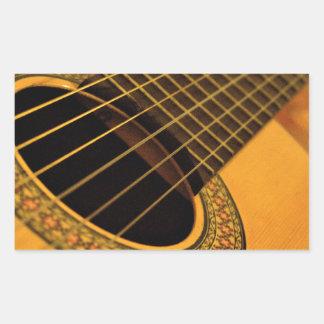 guitar art  vo1 rectangle stickers