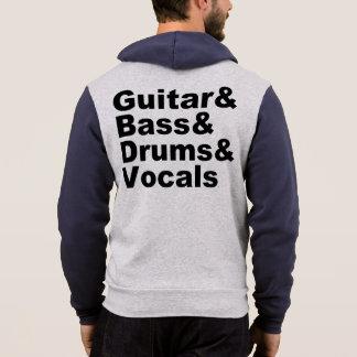 Guitar&Bass&Drums&Vocals (blk) Hoodie