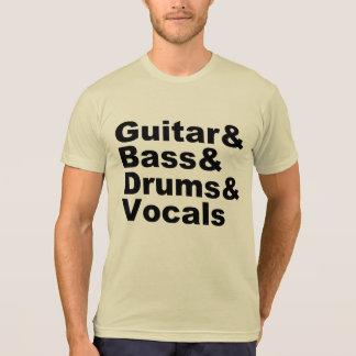 Guitar&Bass&Drums&Vocals (blk) T-Shirt