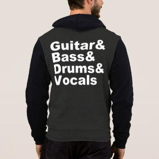 Guitar&Bass&Drums&Vocals (wht) Hoodie