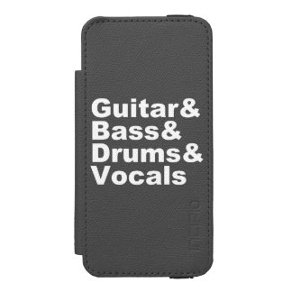 Guitar&Bass&Drums&Vocals (wht) Incipio Watson™ iPhone 5 Wallet Case