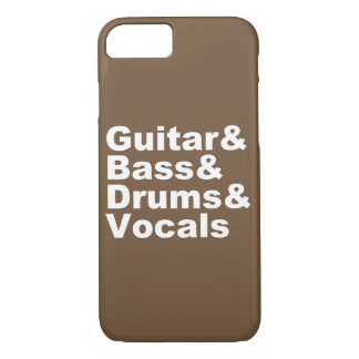 Guitar&Bass&Drums&Vocals (wht) iPhone 8/7 Case