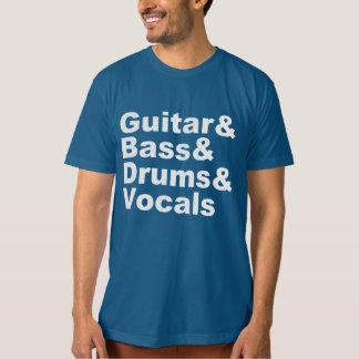 Guitar&Bass&Drums&Vocals (wht) T-Shirt