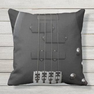 Guitar bass  instrument black outdoor cushion