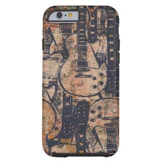 Guitar Black Collage Grunge Tough iPhone 6 Case