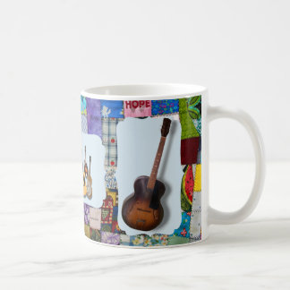 GUITAR-BLUEGRASS BAND-QUILTED COFFEE MUG