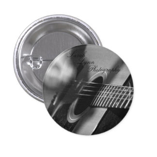 Guitar Close Up 3 Cm Round Badge
