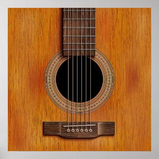 Guitar Closeup Poster