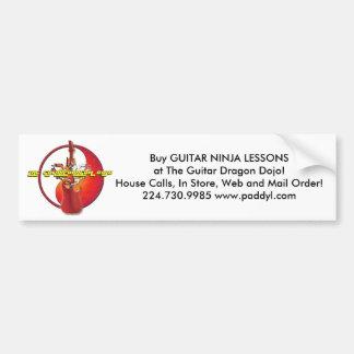 Guitar Dragon Dojo Bumper Sticker