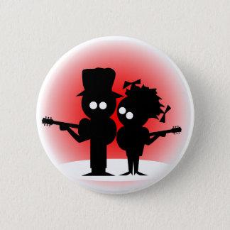 Guitar Duo 6 Cm Round Badge