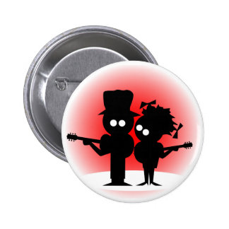 Guitar Duo 6 Cm Round Badge