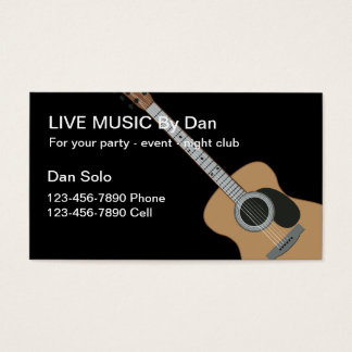 Guitar Entertainer Business Cards
