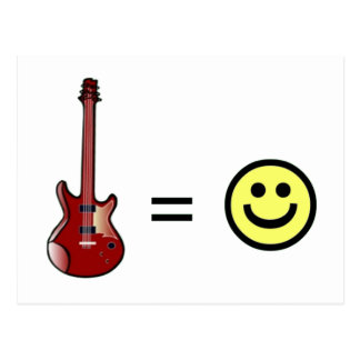 Guitar Equals Happiness Postcard