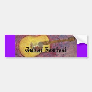Guitar Festival Bumper Sticker