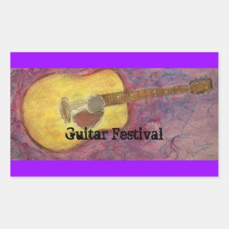 Guitar Festival Rectangular Sticker
