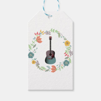 Guitar Flower Ring Gift Tags