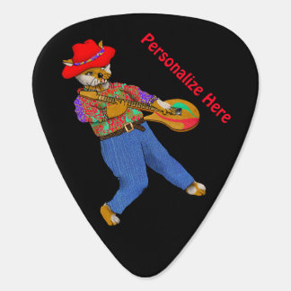 Guitar for both Right- and Left-handed Musicians Plectrum