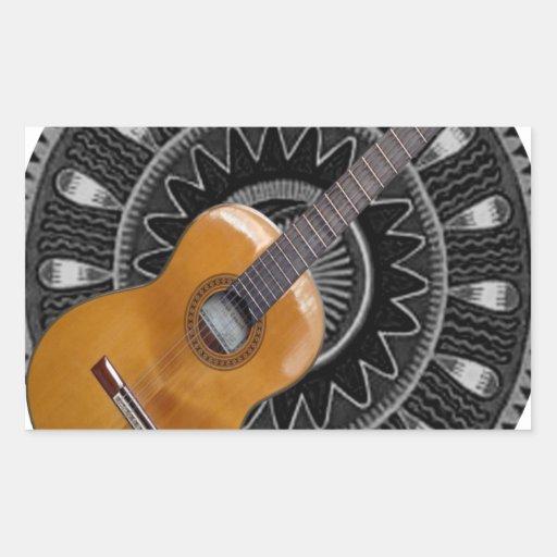 GUITAR GIFT CUSTOMIZABLE PRODUCTS RECTANGULAR STICKER