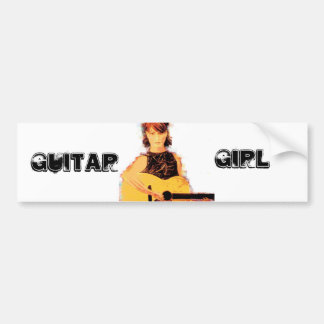 Guitar Girl Bumper Sticker