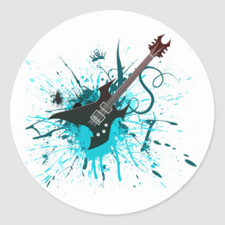 Guitar Graffiti - Emo Rock Music Band Alternative Stickers