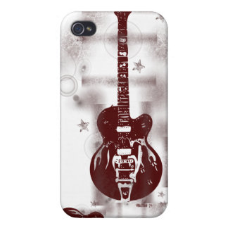 Guitar Graphic Red iPhone Case iPhone 4 Covers
