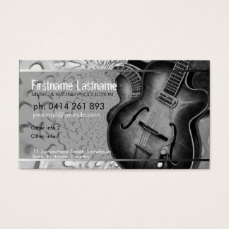 GUITAR Grey Black Music Business card