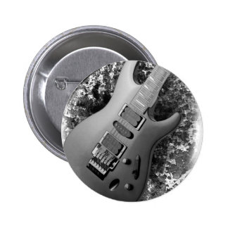 Guitar grunge 6 cm round badge