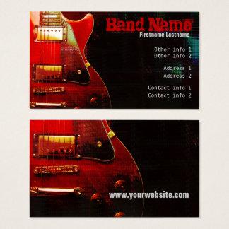 """GUITAR """"GrungeRed"""" Business card"""