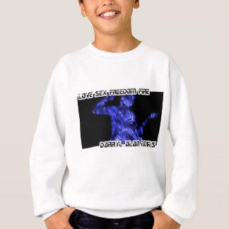 Guitar Guitarist Man Fire Silhouette Sweatshirt