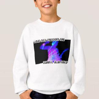 Guitar Guitarist Man Lightshow Silhouette Sweatshirt