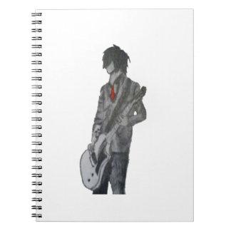 Guitar Guy Pencil Art Spiral Notebook