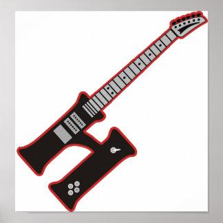 Guitar H Print